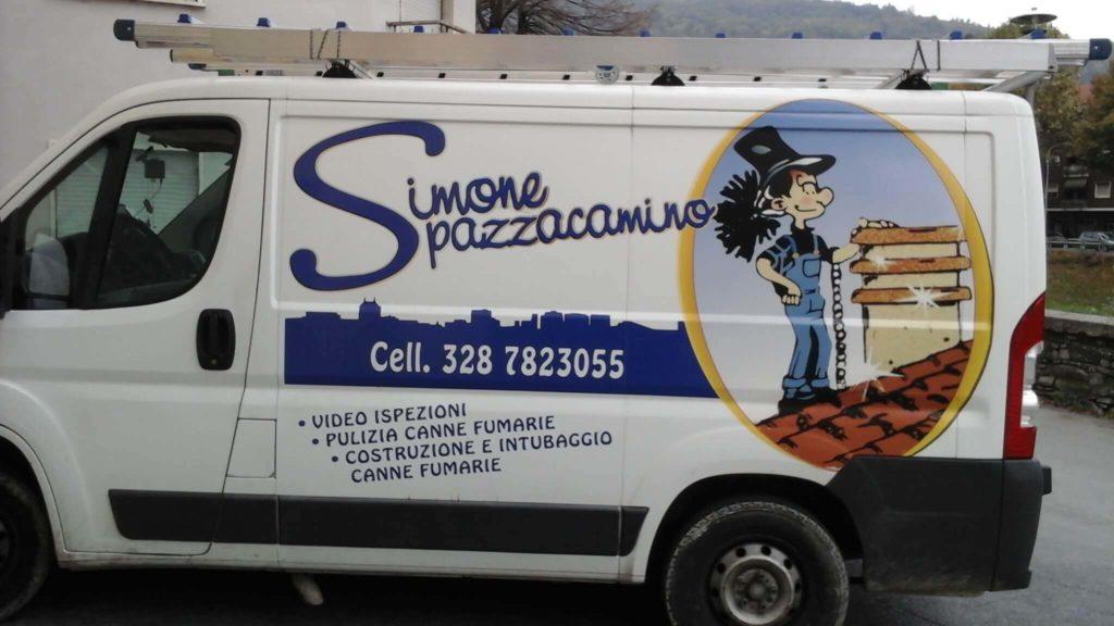 spazzacamino simone furgone lavoro